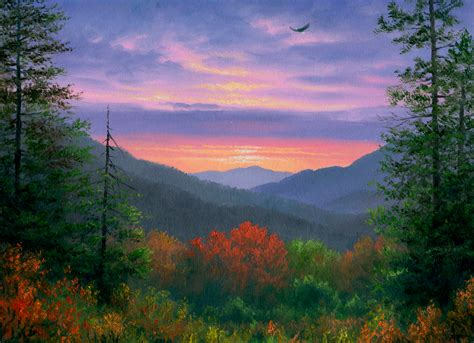 Appalachian Mountains Fall Iphone Wallpaper by Autumn Painting Hd Wallpaper Background Image