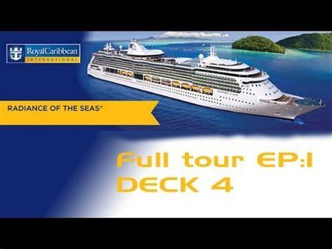 radiance of the seas ship tour ep 1 deck 4 youtube