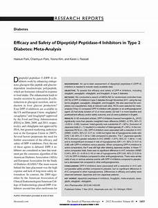 (PDF) Efficacy and Safety of Dipeptidyl Peptidase-4 ...