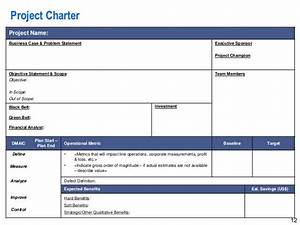 12 project charter project name business case problem With six sigma black belt project template