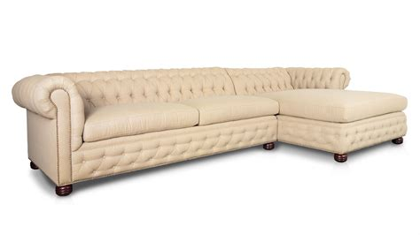chaise chesterfield cococohome traditional chesterfield single chaise fabric
