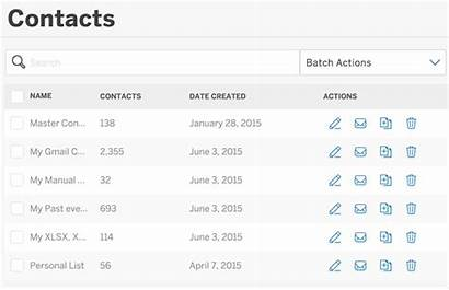 Contacts Lists Import Select