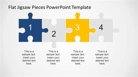 editable flat jigsaw pieces powerpoint template slidemodel
