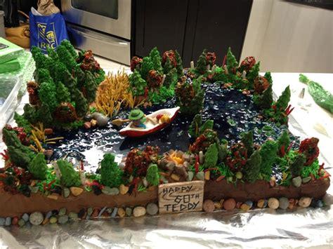 forest lake  canoe cake cakecentralcom