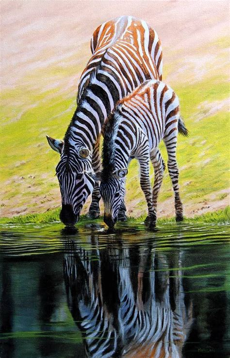 paintings  zebras images  pinterest