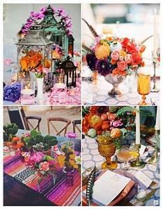 Decoration Mariage Boheme : decoration mariagede table mariage boheme lanterne orientale plume chemin de table colore mariage ~ Melissatoandfro.com Idées de Décoration