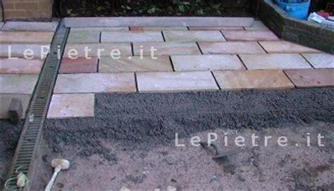piastrelle posa a secco posa porfido a secco cemento armato precompresso