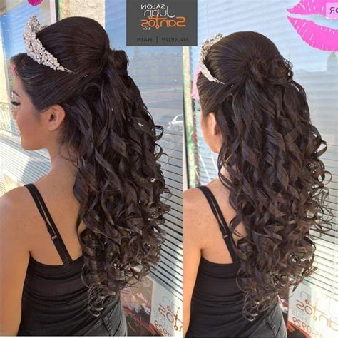 collection  long curly quinceanera hairstyles