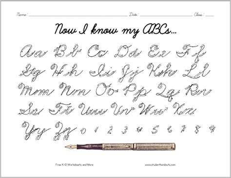 Cursive Script Alphabet With Arrows  Here Is A Convenient Handout For Students Learning To