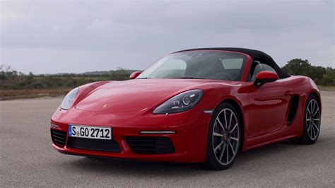 red porsche boxster 2017 2017 porsche 718 boxster s guards red youtube