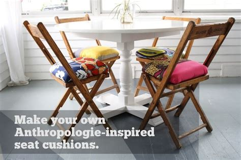 Make Your Own Anthropologie Folding Chair Seat Cushions