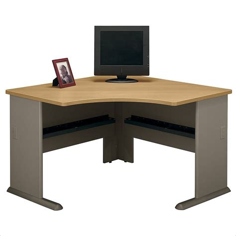 light oak computer desk bush bbf series a 48w corner desk in light oak wc64366