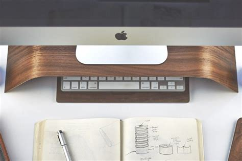 Grovemade's Walnut Monitor Stand Is An Imac Accessory That