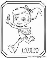 Coloring Ruby Pages Printable sketch template
