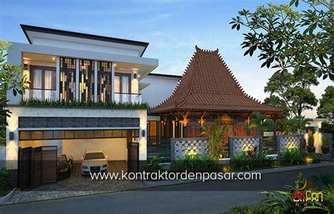 desain rumah kombinasi etnik jawa klasik modern