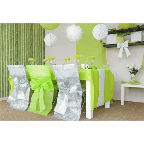 housses de chaise mariage vert anis avec noeud lot de 8
