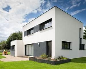 facade maison grise et blanche 5 photos darchitecture With facade maison grise et blanche
