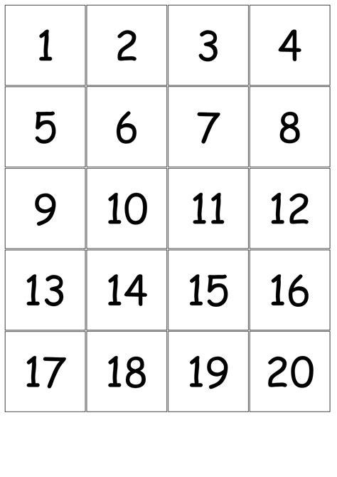 numbercards  printable numbers  printable