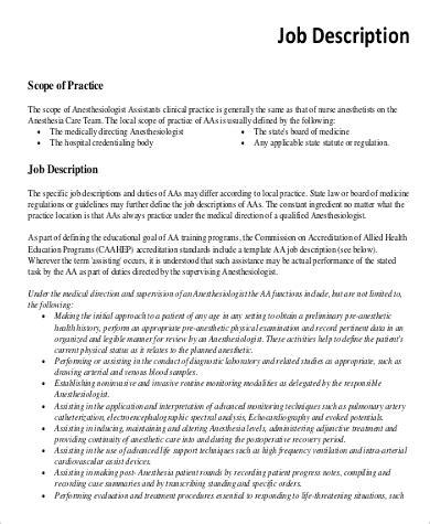 anesthesiologist job description   documents