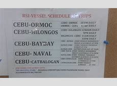 Roble Shipping Inc Schedule of Trips August 6, 2014