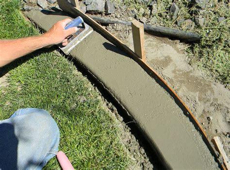 concrete landscape edging how to make concrete landscape edging