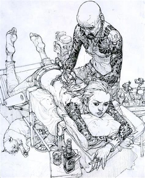 Sketch Master Ilustrator Kim Jung Gi Art Gallery Third Monk