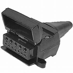 Britax 12 Pin Flat Plastic Trailer Socket