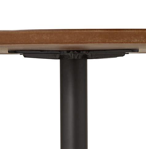 table ronde de bureau table à diner ronde chef en bois finition noyer table de