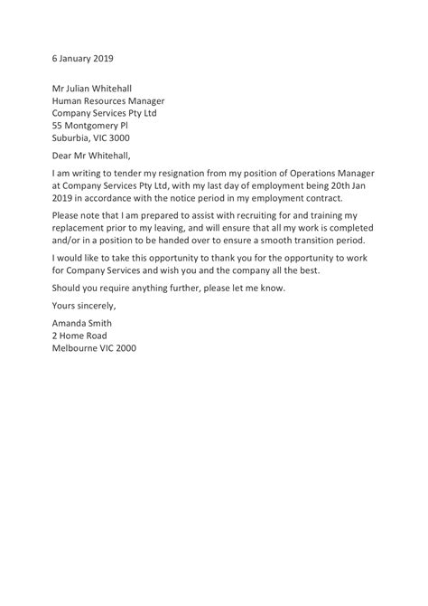 Resignation Letter Templates: How to Resign in 2020 - Training.com.au