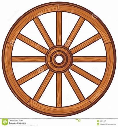 Wagon Wheel Wheels Clipart Wooden Wood Vector