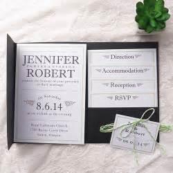 pocket wedding invitation kits modern simple green wedding black pocket wedding invitation kits ewpi154 as low as 1 69
