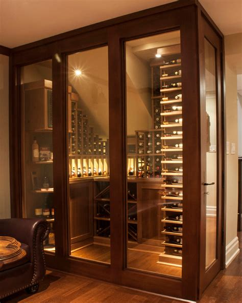 small space wine cellars by papro consulting transitional wine cellar toronto by papro