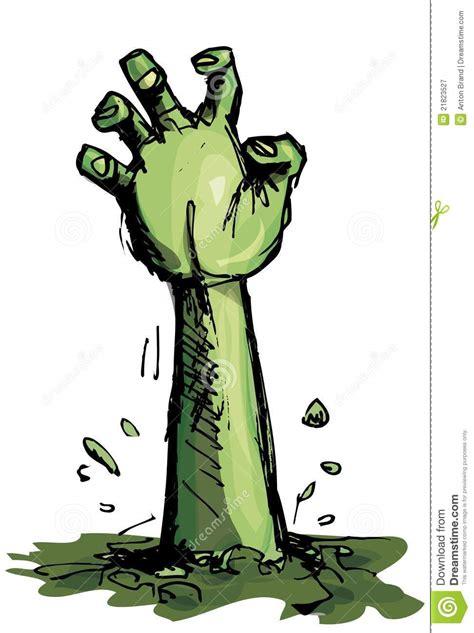 fumetto  una mano verde delle zombie fotografia stock