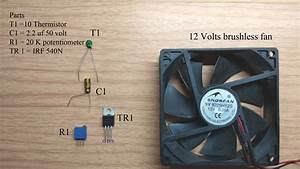 Simple Temperature Control Fan Speed Circuit Diagram