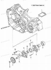 Polaris Atv 2006 Oem Parts Diagram For Oil Pump   Ab  Ac