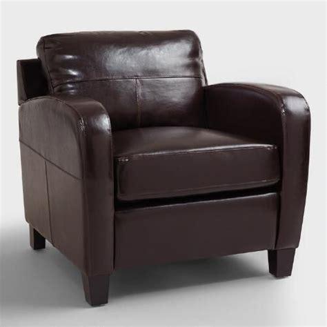 espresso bi cast leather chair world market