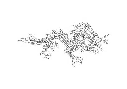 Dragon Coloring Chinese Eastern Pages Printable Un