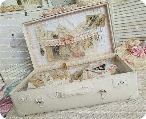 shabby chic suitcase shabby suitcase shabby cottage style pinterest
