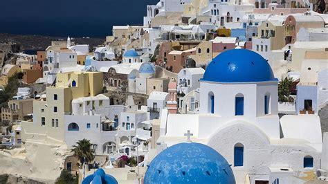 Santorini Greece Wallpaper Wallpapersafari