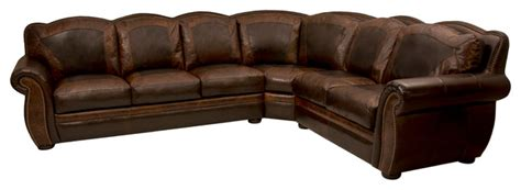western leather sectional sofa western themed leather sectional rustic living room