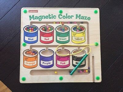 magnetic color maze lakeshore magnetic color maze wooden