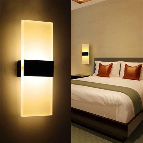 modern led wall l acryl bed room wall light living
