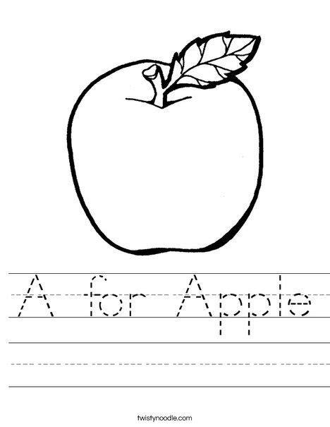 apple worksheet twisty noodle  images