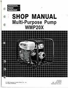 Honda Wmp20x Water Pump Shop Manual