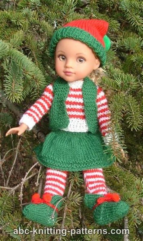 abc knitting patterns santas elf outfit