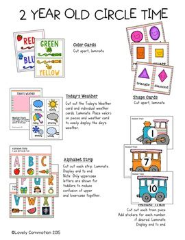 free preschool curriculum for 2 year olds 2 year circle time pack by lovely commotion tpt 769