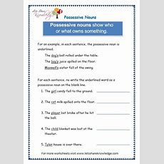 Grade 3 Grammar Topic 8 Possessive Nouns Worksheets  Lets Share Knowledge