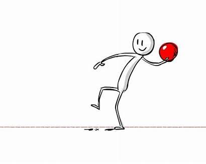 Throwing Ball Animate Character Drawing Drawings Slide