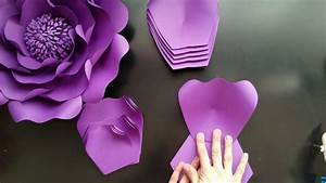 Diy Paper Flowers  Template 21 Medium Flower