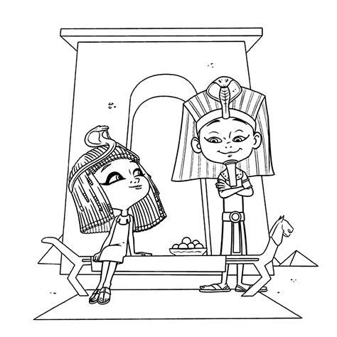 Kleurplaat Egyptenaren by Leuk Voor In Het Oude Egypte